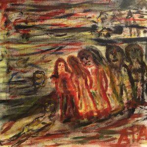 """Gemälde """"Der Aufbruch"""""""