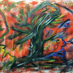 """Gemälde """"Der brennende Dornbusch"""""""
