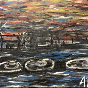 """Gemälde """"Die Flut"""""""