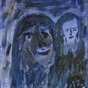 "Gemälde ""Romanze in Blau"""