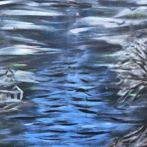 Gemälde Am Grenzfluss